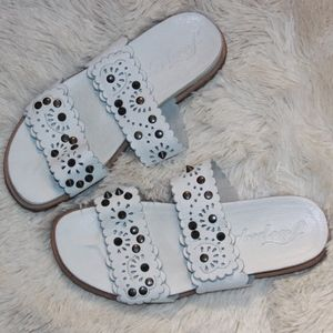 NEW Free People Leather Studded Slip-On Sandals